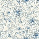 Naadloos bloemenpatroon met chrysanten Royalty-vrije Stock Foto's