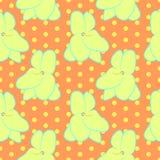 Naadloos bloemenpatroon met gele violette bloemen Royalty-vrije Stock Foto's