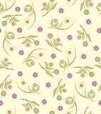 Naadloos bloemenpatroon met gestileerde paardebloemen Stock Afbeelding