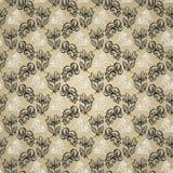 Naadloos Bloemenpatroon met Insecten (Vector) Stock Foto's
