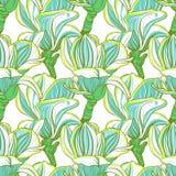 Naadloos bloemenpatroon met magnoliabloesem stock illustratie