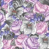 Naadloos bloemenpatroon met rozen Royalty-vrije Stock Foto