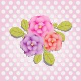 Naadloos bloemenpatroon met rozen, waterverf Vector illustratie Stock Afbeeldingen