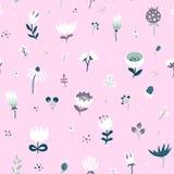 Naadloos bloemenpatroon met wildflowers Royalty-vrije Stock Foto