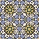 Naadloos bloemenpatroon, olieverfschilderij Stock Afbeelding