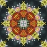 Naadloos bloemenpatroon, olieverfschilderij Stock Foto's