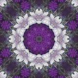 Naadloos bloemenpatroon, olieverfschilderij Stock Afbeeldingen