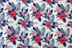 Naadloos Bloemenpatroon op Behang stock fotografie