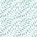 Naadloos bloemenpatroon op witte achtergrond Royalty-vrije Stock Fotografie