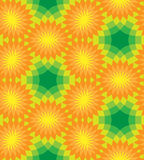 Naadloos BloemenPatroon Oranje bloemen op groene achtergrond Royalty-vrije Stock Foto's