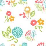 Naadloos bloemenpatroon van boeketten Stock Fotografie