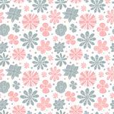 Naadloos bloemenpatroon van het kleurenroze en Stock Foto's