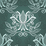 Naadloos bloemenpatroon (vector) Stock Afbeelding