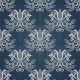 Naadloos bloemenpatroon (vector) Stock Foto's