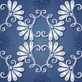 Naadloos bloemenpatroon (vector) Stock Afbeeldingen