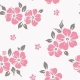 Naadloos BloemenPatroon Vectorbehang met bloemen Stock Foto's