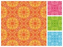 Naadloos bloemenpatroon in verschillende kleurenschema's Royalty-vrije Stock Foto