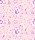Naadloos bloemenpatroon in zachte roze kleur Stock Fotografie
