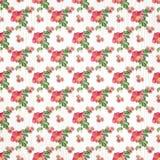 Naadloos bloemenpatroondocument behang Stock Afbeelding