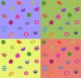 Naadloos bloempatroon Stock Foto's