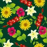 Naadloos bloempatroon Stock Fotografie