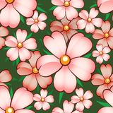Naadloos bloempatroon Royalty-vrije Stock Foto