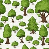 Naadloos boompatroon Stock Afbeeldingen