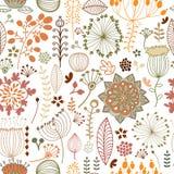 Naadloos botanisch patroon Stock Foto