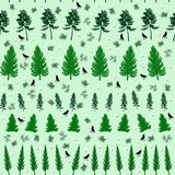 Naadloos botanisch patroon Stock Afbeeldingen