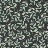 Naadloos botanisch patroon, Achtergrond voor stoffen, textiel, document, behang stock illustratie