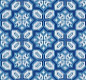Naadloos breiend de winterpatroon Royalty-vrije Stock Afbeelding