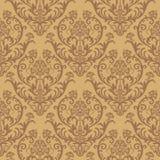 Naadloos bruin bloemenbehang Royalty-vrije Stock Fotografie