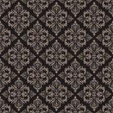 Naadloos bruin bloemenpatroon Royalty-vrije Stock Afbeeldingen