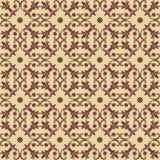 Naadloos bruin Patroon op beige Achtergrond Stock Afbeeldingen