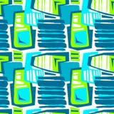 Naadloos brushpen de textieltextuur van het krabbelpatroon grunge Royalty-vrije Stock Foto's