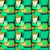 Naadloos brushpen de textieltextuur van het krabbelpatroon grunge Royalty-vrije Stock Afbeeldingen