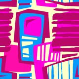 Naadloos brushpen de textieltextuur van het krabbelpatroon grunge Stock Fotografie