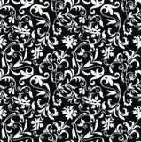Naadloos buitensporig bloemen achtergrond-patroon Stock Afbeeldingen