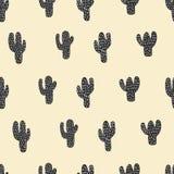Naadloos cactuspatroon Royalty-vrije Stock Afbeeldingen
