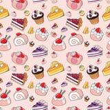 Naadloos cakepatroon Royalty-vrije Stock Foto's