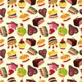 Naadloos cakepatroon Stock Afbeelding