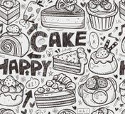 Naadloos cakepatroon Royalty-vrije Stock Afbeelding