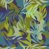 Naadloos camouflage donker kaki uitgebroed patroon royalty-vrije illustratie