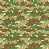 Naadloos camouflagebehang Stock Fotografie