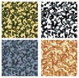 Naadloos camouflagepatroon Royalty-vrije Stock Foto's