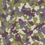 Naadloos camouflagepatroon Stock Afbeelding