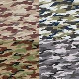 Naadloos camouflagepatroon Stock Afbeeldingen