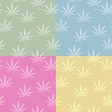 Naadloos cannabispatroon Stock Afbeeldingen
