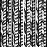 Naadloos chevron abstract hand getrokken patroon Vectorillustratie met chevronlijnen en verticale lijnen Stock Foto's