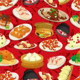 Naadloos Chinees voedselpatroon Stock Foto